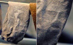 Le visage de Jésus apparaît sur une chaussette dans Actualité media_xl_4541014-300x187